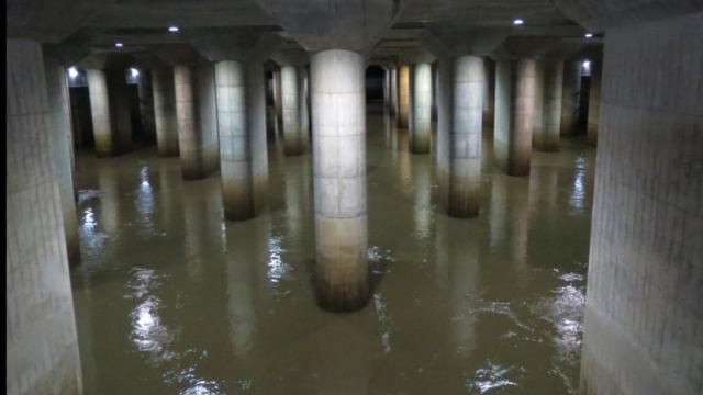 地下神殿 台風19号 効果  容量 洪水 防ぐ 仕組み